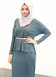 Green Sweater + Skirt Set - ZIZI Boutique