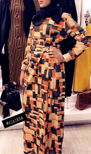 Asha Winter Dress (w/design belt) - ZIZI Boutique