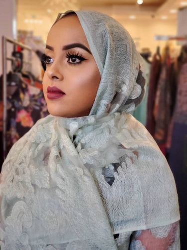 Fransawi Hijab - Grey - ZIZI Boutique