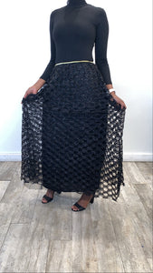 Circle Evening Skirt - Black - ZIZI Boutique