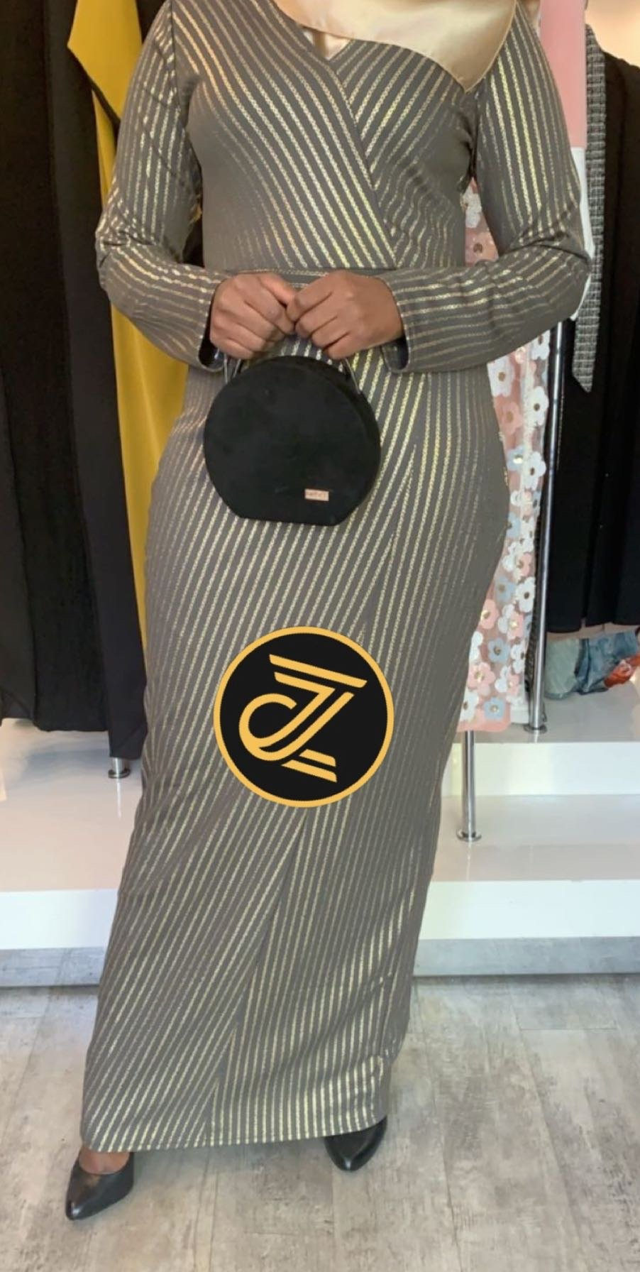 Gold Links Evening Dress - ZIZI Boutique