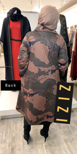 Canab Umbrella Coat - Olive/Taupe - ZIZI Boutique