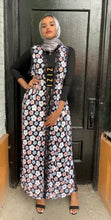 ZZ Design Abaya - Black Multicolor Flowers