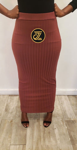 Wide Pinstripe Skirt - ZIZI Boutique