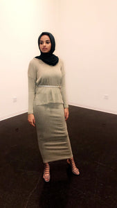 Faded Green Sweater + Skirt Set - ZIZI Boutique