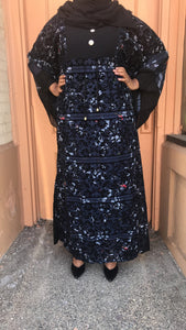 Yani Floral Print Dress - Butterfly Style - Navy Blue - ZIZI Boutique