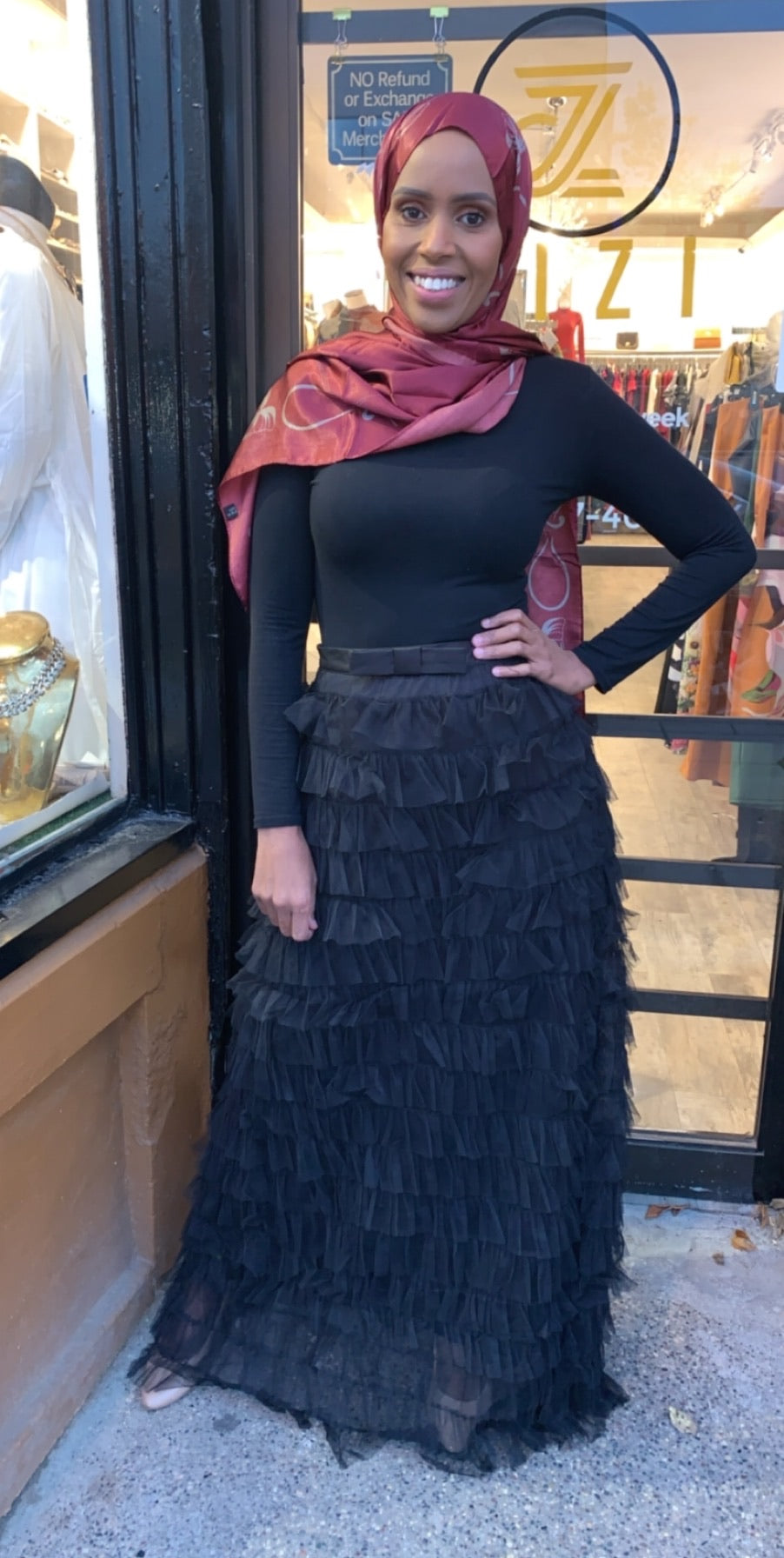 Layered Ruffle Skirt - Black - ZIZI Boutique