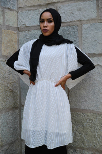 White  Midi Dress Top