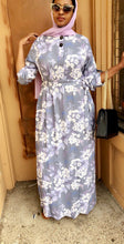 Mina Flower Maxi Dress - Lavender