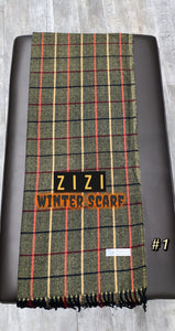 Winter Print Scarf - #1