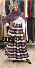 Striped Pleated Maxi Skirt - ZIZI Boutique