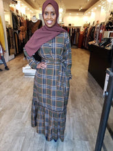 Plaid Chiffon Dress (Flared) - ZIZI Boutique