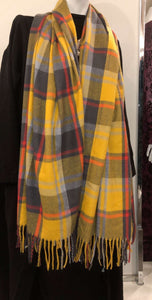 Winter Scarf - Yellow Plaid - ZIZI Boutique