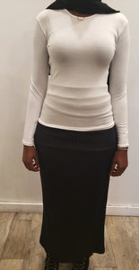 Plain Top - White - ZIZI Boutique