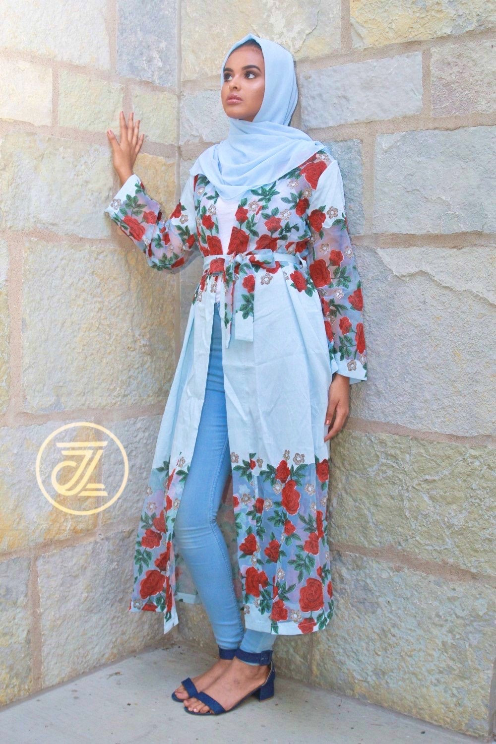 Rose Linen Cardigan - ZIZI Boutique