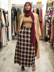 Plaid Print Maxi Skirt - ZIZI Boutique