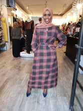 Plaid Chiffon Dress (Straight) - ZIZI Boutique