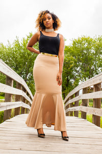 Mermaid Skirt - Tan - ZIZI Boutique