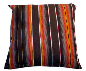 Saltillo Serape large square pillow bed- Two Tone Brown