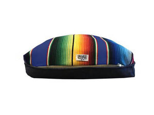 Saltillo Serape Rectangulo Cushion- Azul