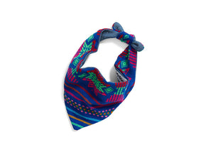 Patterned Bandana-Blue