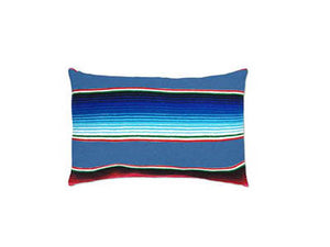 Saltillo Serape Blue Rectangular Pillow