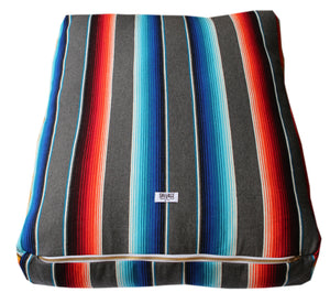 Saltillo Serape Rectangulo Cushion-Grey