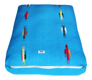 Thunderbird Rectangulo Bed- Blue