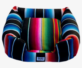 Saltillo Serape Bumper Bed - Black