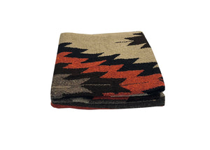 Diamante Blanket- Rust/Tan/Black
