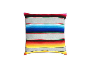 Saltillo Serape Square Home Pillow- Grey