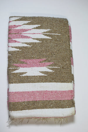 Diamante Blanket- Pink/Tan/White