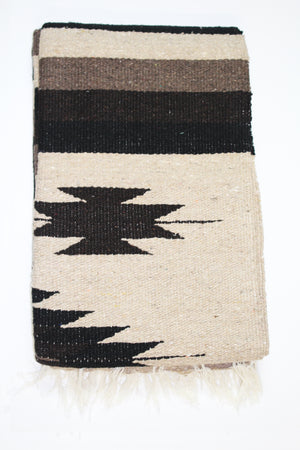 Diamante Blanket- Tan/Black/Brown