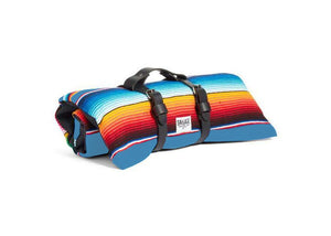 Saltillo Serape Rollup Bed-Light Blue