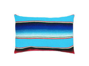 Saltillo Serape Light Blue Rectangular Pillow