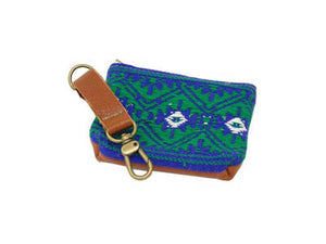 Mayan Pouch - Blue and Green