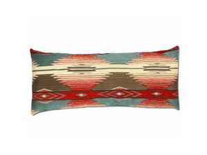 Navajo Long Rectangular Pillow - Red