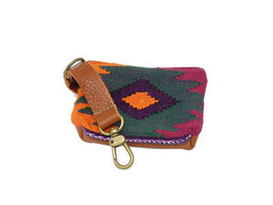Oaxaca pouch - green, purple