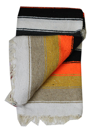 Diamante Blanket- Charcoal/Red-White Diamond with multi stripes