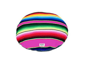 Saltillo Serape Circulo Bed- Hot Pink