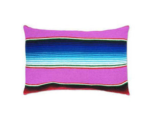 Saltillo Serape Pink Rectangular Pillow