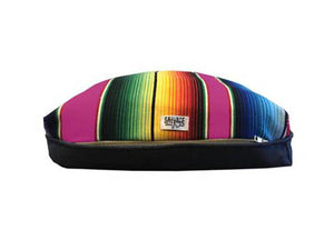 Saltillo Serape Rectangulo Cushion- Hot Pink