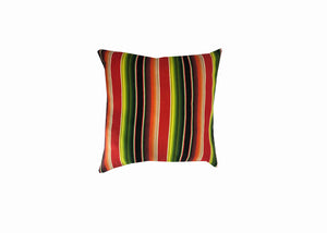 Sundance Serape Square Home Pillow- Red