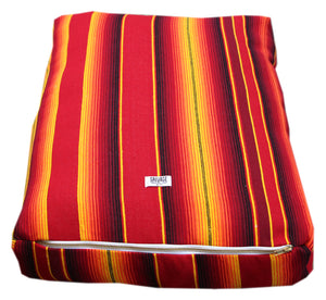 Saltillo Serape Rectangulo Cushion-Two tone Red and Yellow