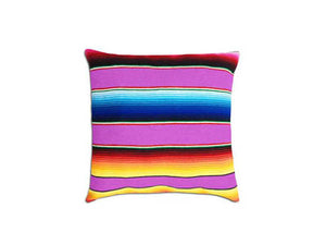 Saltillo Serape Square Home Pillow- Hot Pink