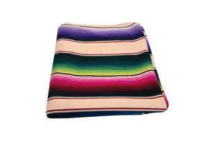 Saltillo Serape Blanket - Tan
