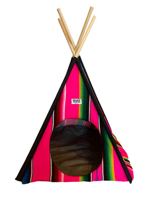 Saltillo Serape Tipi Casita- Light Blue