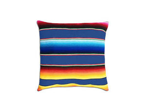 Saltillo Serape Square Home Pillow- Blue