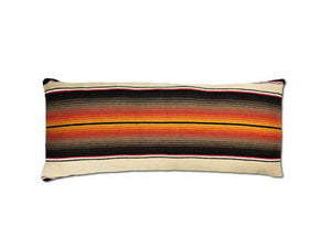 Saltillo Serape Long Rectangular Pillow -Brown