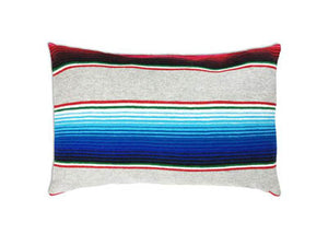 Saltillo Serape Grey Rectangular Pillow